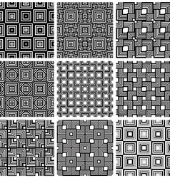 Squares black and white geometric seamless vector image vector image