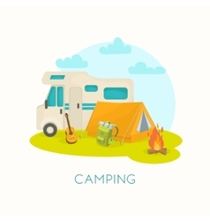 Summer Camping Design vector image vector image