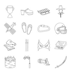 Trade clothing country and other web icon in vector