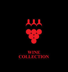 wine collection logo vector image vector image