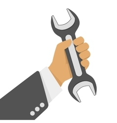 Wrench in hand vector