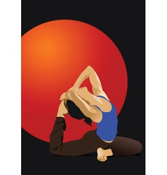 yoga poster vector image vector image