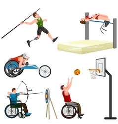 Sport for people with prosthesis physical vector