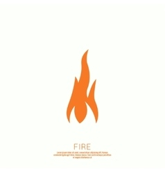 Fire flames icon vector
