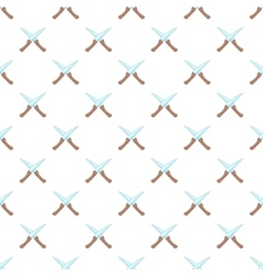 Two knives pattern cartoon style vector