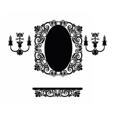 Vintage set of royal classic ornamented table vector
