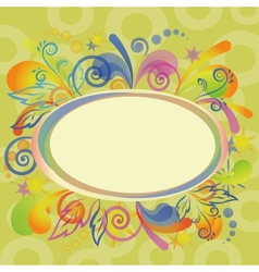 Abstract holiday background with frame vector image