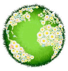 Floral flower globe concept vector