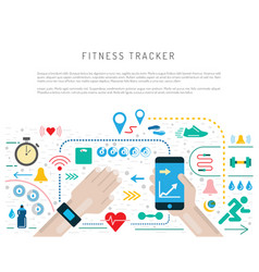 fitness activity tracker vector image