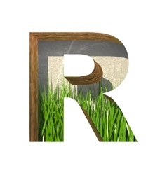 Grass cutted figure r paste to any background vector