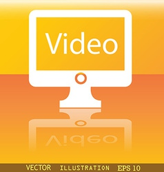 Video icon symbol flat modern web design with vector