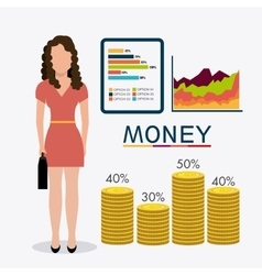Business money and human resources vector