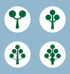Tree icon set vector