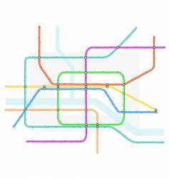 underground map vector image