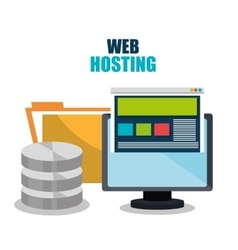 Web housting and technology design vector