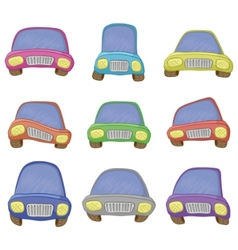 Cartoon set cars vector