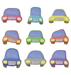 cartoon set cars vector image