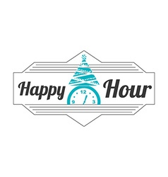 happy hour design vector image