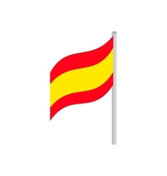 Flag of spain icon isometric 3d style vector