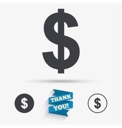 Dollar sign icon usd currency symbol vector