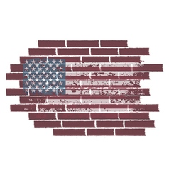 Concept with usa flag on the brick wall vector