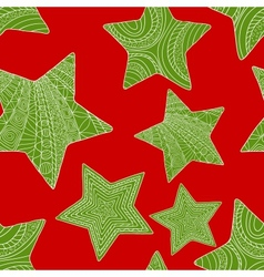 Abstract christmas background with stars vector image vector image