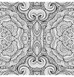 Abstract decorative ethnic seamless pattern vector image