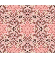 Abstract star mosaic pink pattern vector image vector image