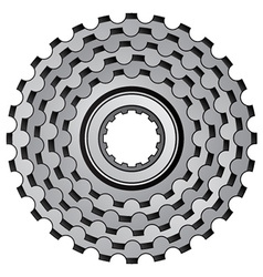 Bicycle gear cogwheel sprocket icon vector