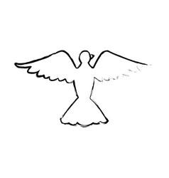 Bird pigeon freedom peace wings open vector