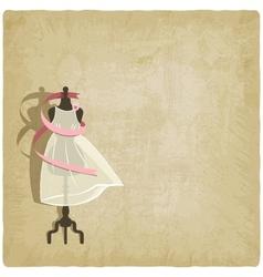 bride dress on old paper background vector image