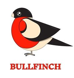 Bullfinch colorful geometric icon vector