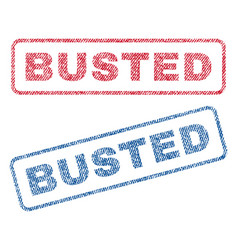 Busted textile stamps vector