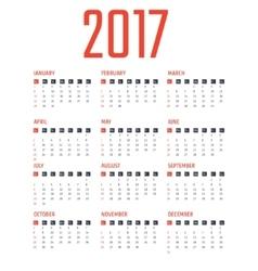 Calendar 2017 design vector