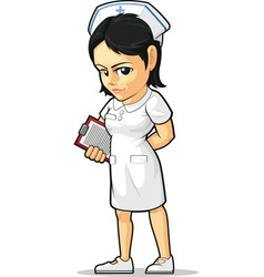 Cartoon of nurse vector