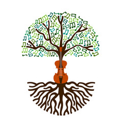 classical music tree nature concept vector image vector image