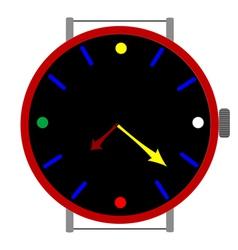 clock colors vector image