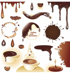 Coffee and chocolate vector