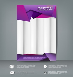 Cover report design template modern style Can use vector image vector image