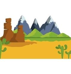 Desert landscape design vector