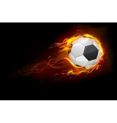 Fiery Soccer Ball vector image