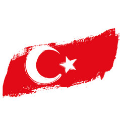 grunge turkey flag vector image vector image