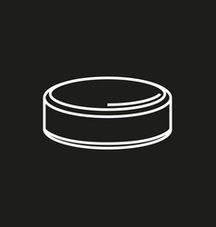 hockey puck isolated on black background vector image