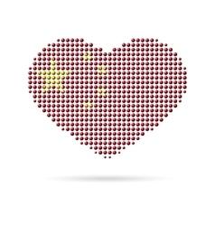 I love china creative heart flag vector