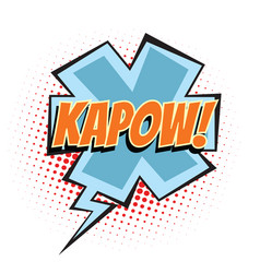 Kapow comic word vector