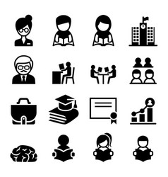 Learning education icon vector