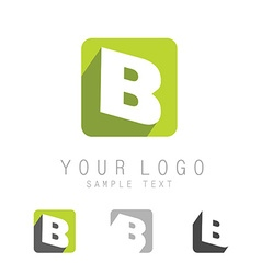 letter B icon vector image vector image