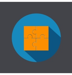 modern puzzle icon vector image vector image