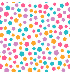 Seamless geometric pattern with pentagon vector