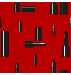 Seamless pattern with lipstick vector